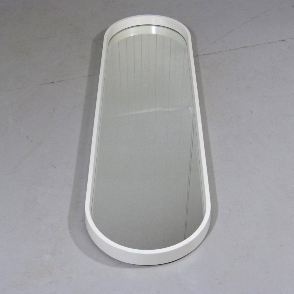 Large oblong oval wall mirror, 1960
