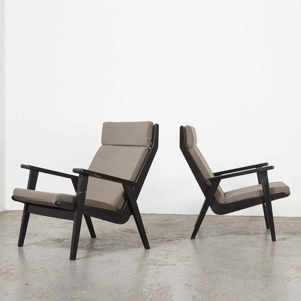 Rob Parry Pair of 1611 Lounge Chairs for Gelderland, 1952
