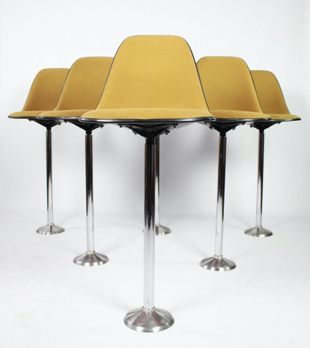 Rare set of 6 barstools by Charles & Ray Eames for Herman Miller, 1960