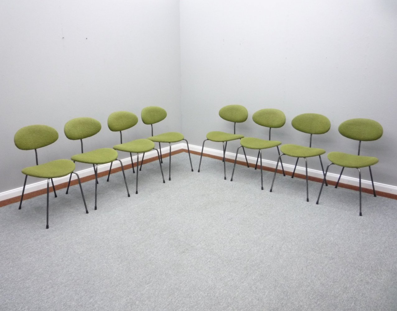 12 x Dining Room Chairs by Hans Bellmann for Domus Germany, 1950s