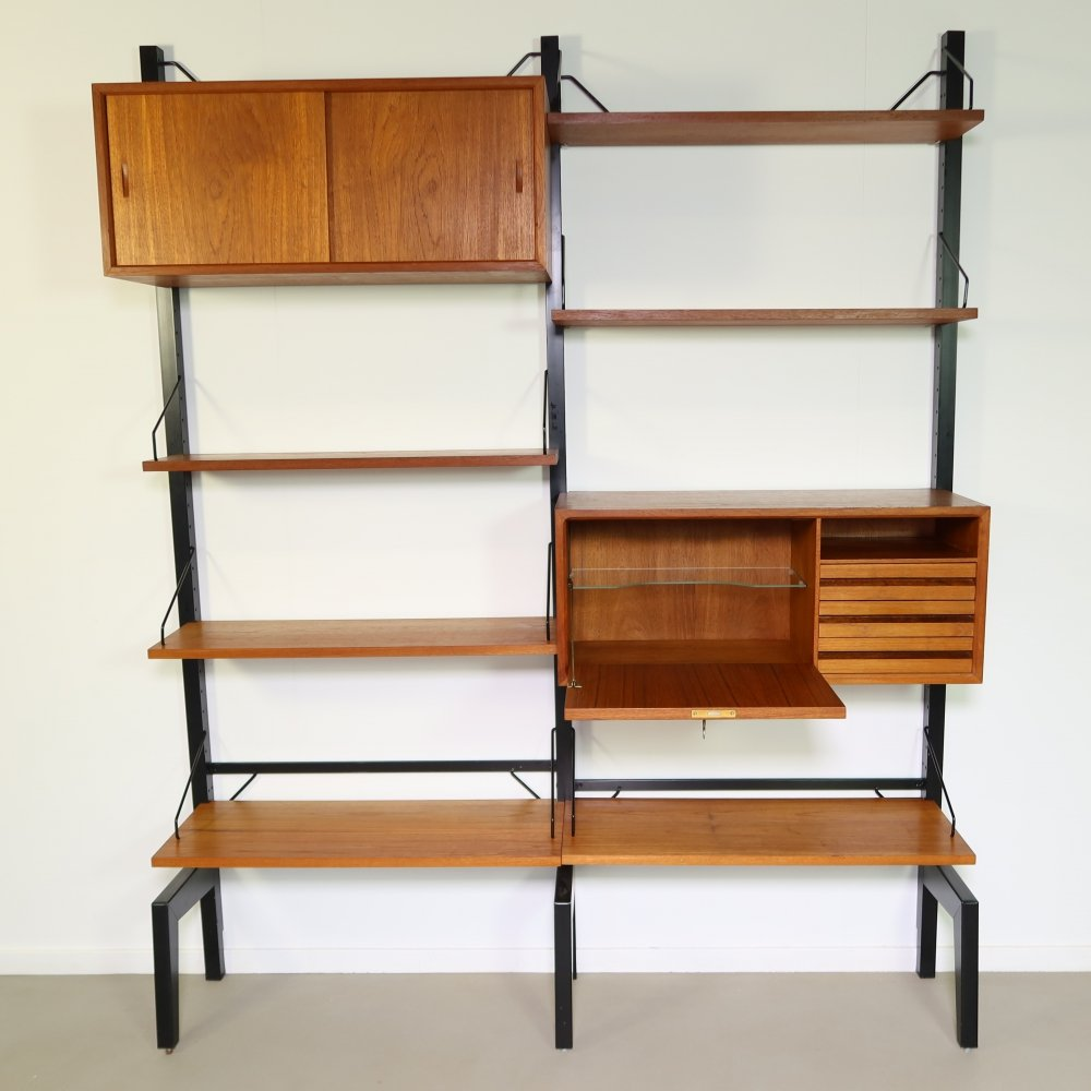 Teak wall unit by Poul Cadovius for Royal System, 1960s