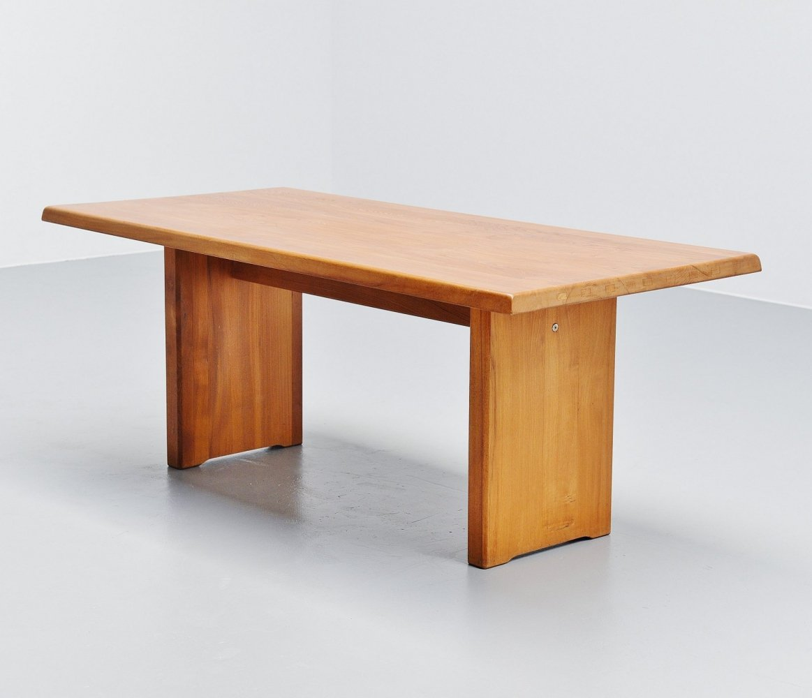 Pierre Chapo T14 dining table in Elm, France 1963