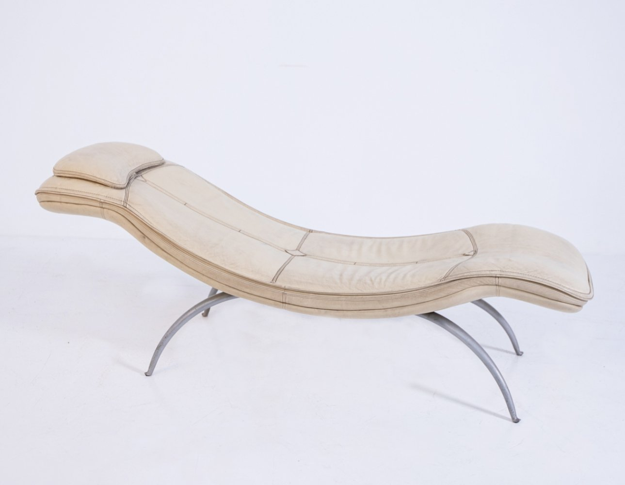 Chaise Longue in Leather by Moroso, 1970s