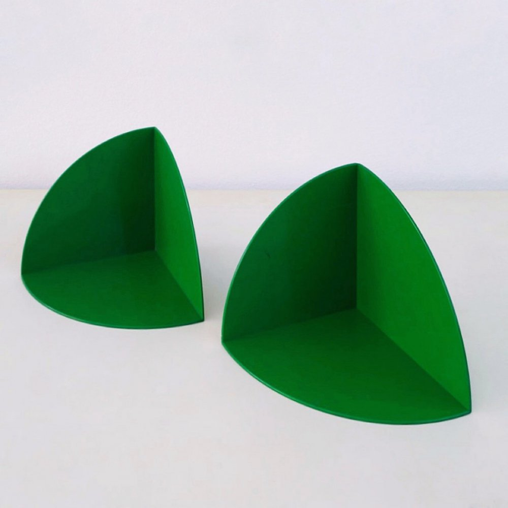 Kartell original ABS plastic Model 4909 bookends by Giotto Stoppino