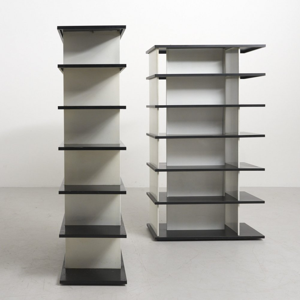 Set of 2 Steel Bookcases by Wim Rietveld, Netherlands 1960