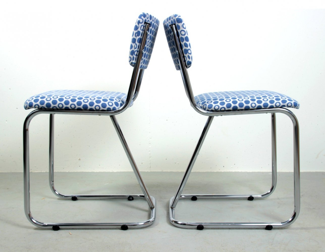 Pair of model 107 dining chairs by W. Gispen for Gispen, 1960s