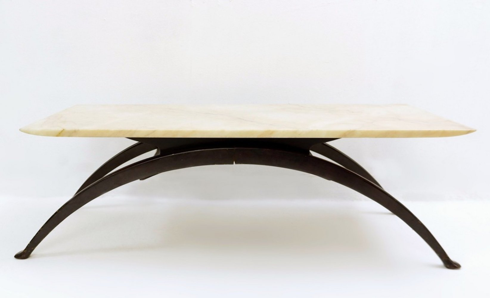 Arch Legs And Marble Top Coffee Table