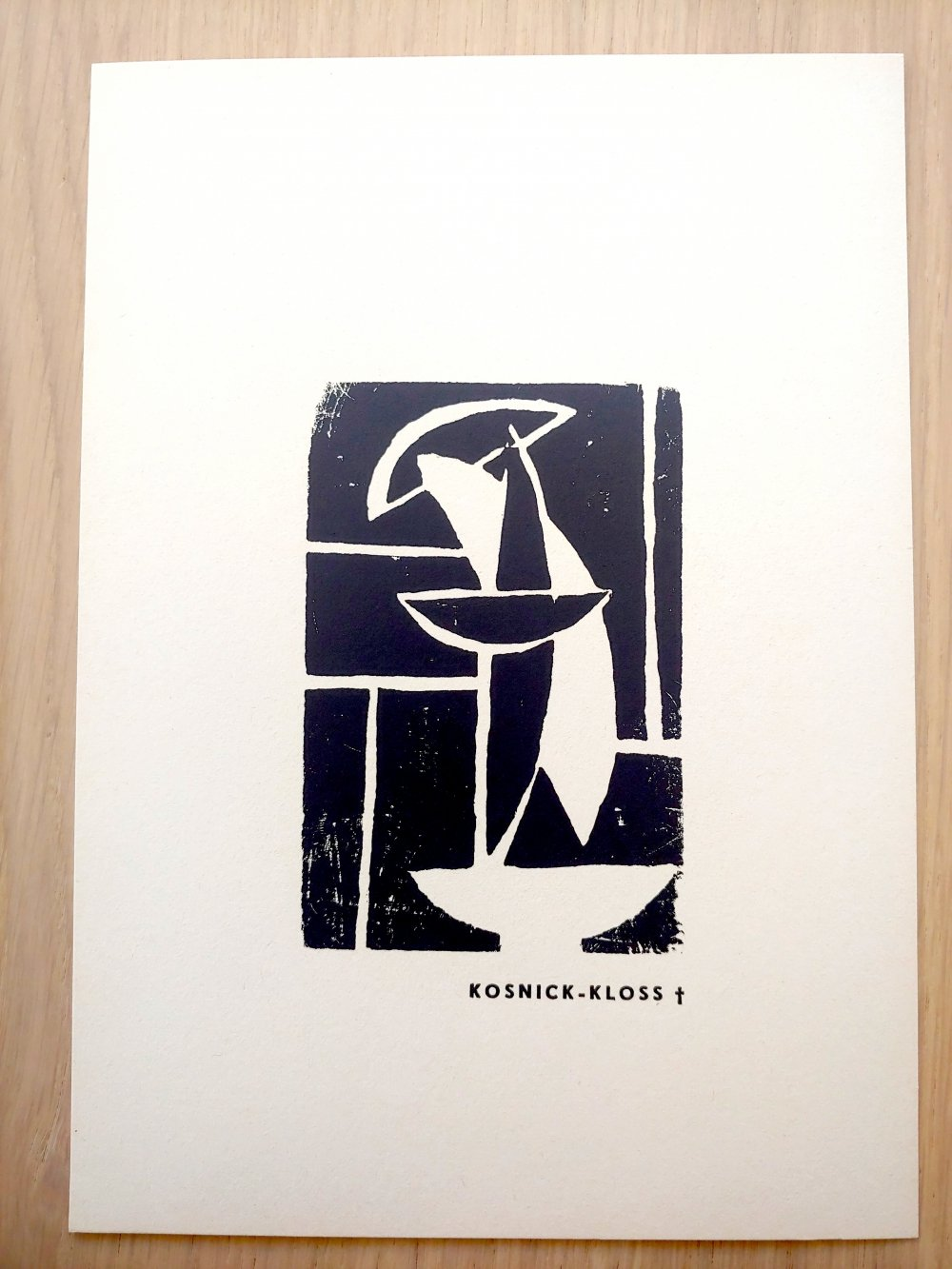 La Lune en Rodage III Collection Woodcut by Jeanne Kosnick-Kloss, 1966