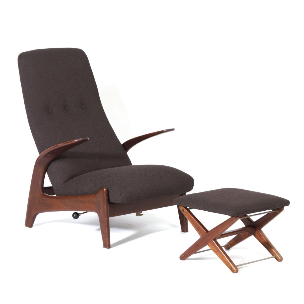 Lounge chair with Foot Stool by Rastad & Relling for Gimson & Slater, 1960s