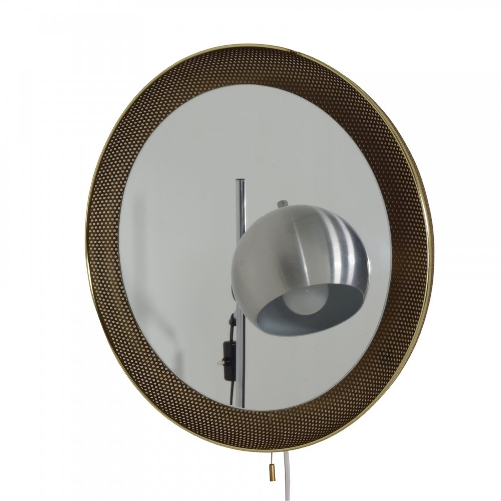 Perforated Mirror Lamp by Artimeta, 1960s