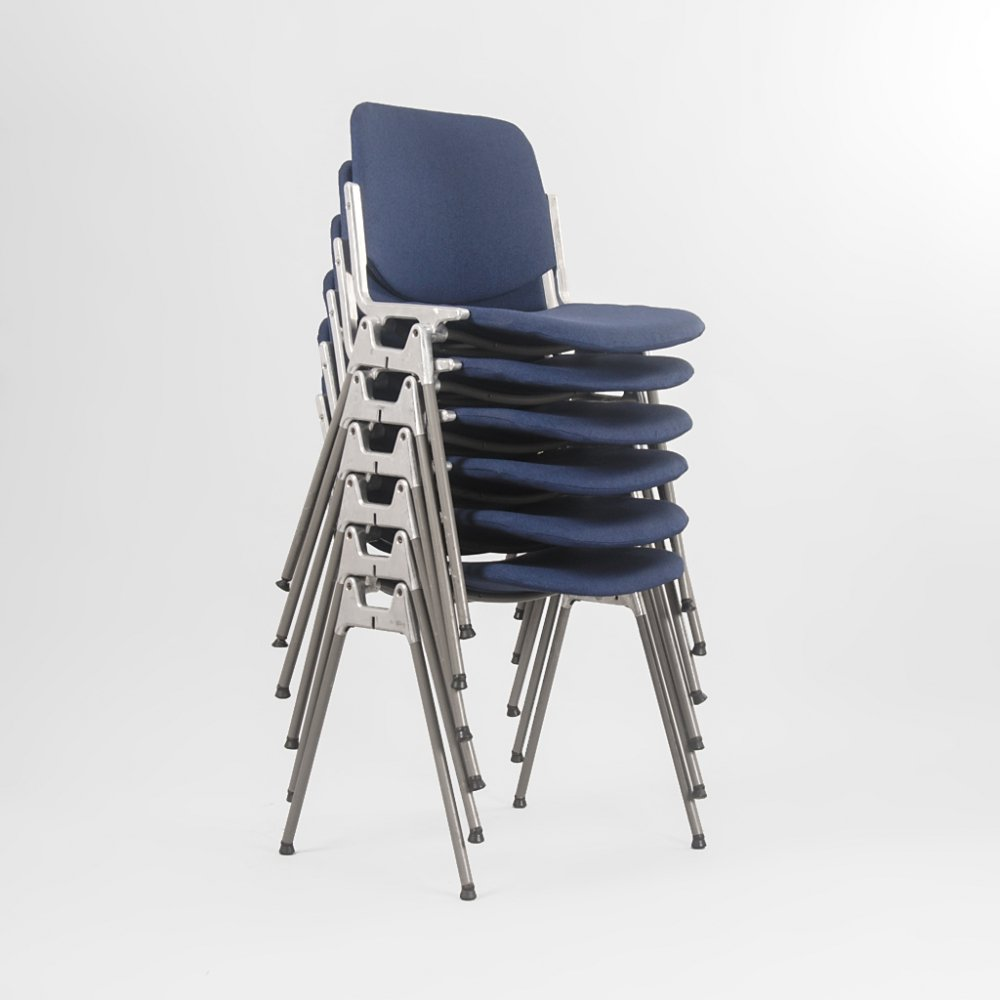 Set of 6 DSC 106 chairs by Giancarlo Piretti for Castelli, Italy 1960