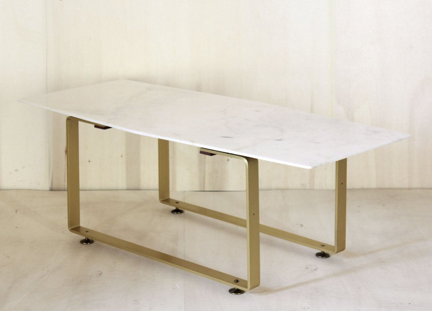 1970 vintage coffee table with marble top