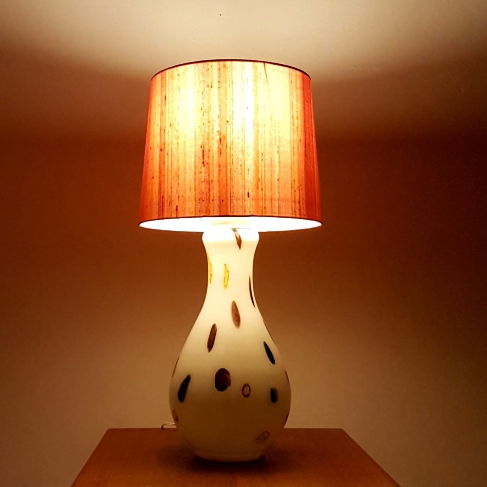 Hand made murano glass lamp by Dino Martens for Aureliano Toso, Italy 1960s