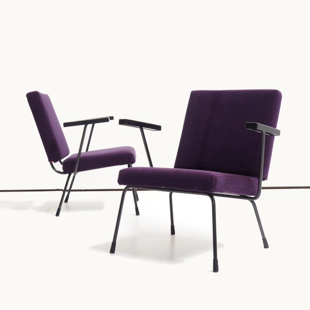 Pair of model 1401 chairs by Wim Rietveld for Gispen, 1970s