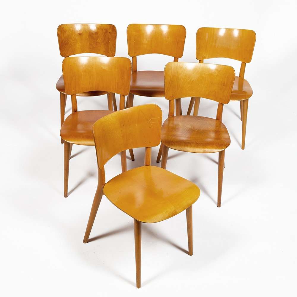 Set of six chairs by Max Bill for Horgen Glarus, 1951