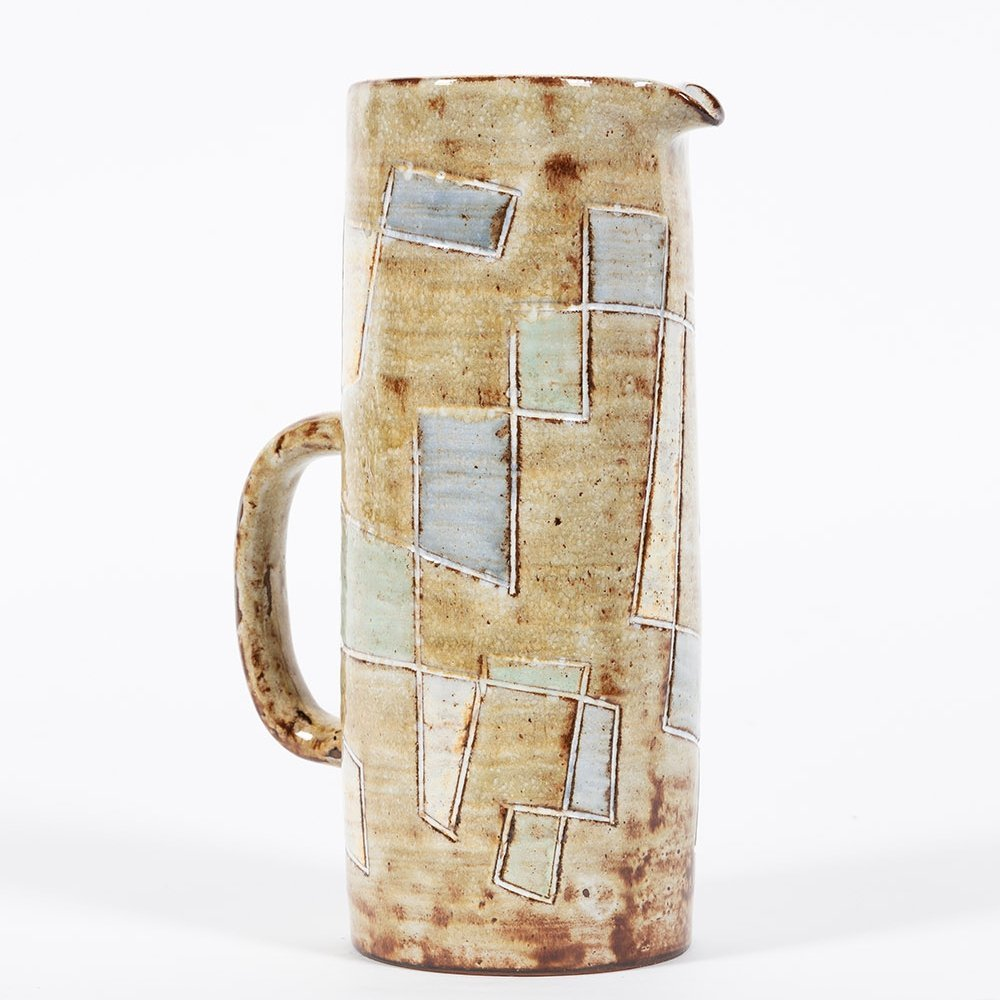 Enameled ceramic pitcher by Vieux Moulin Vallauris