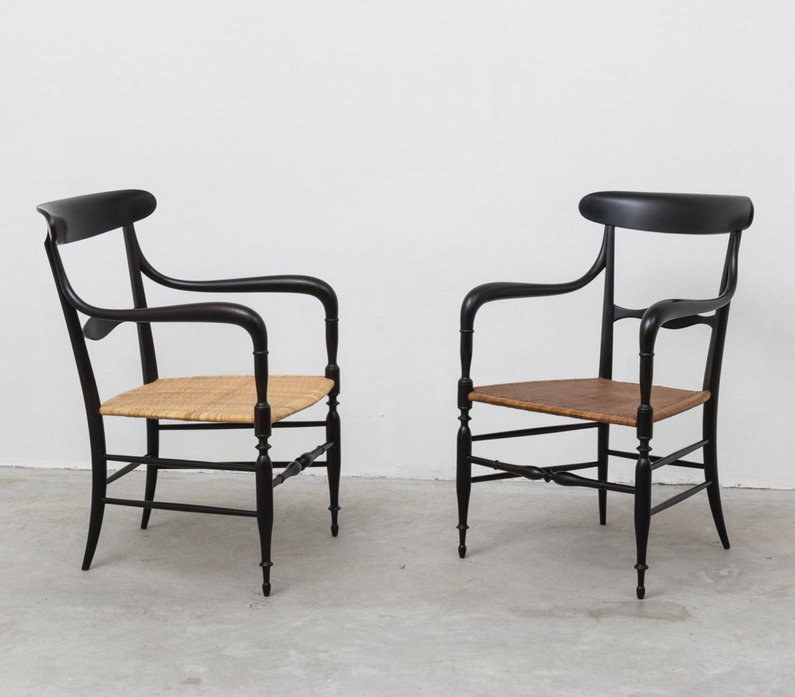 Pair of Campanino armchairs by Colombo Sanguineti for Azucena, 1950s