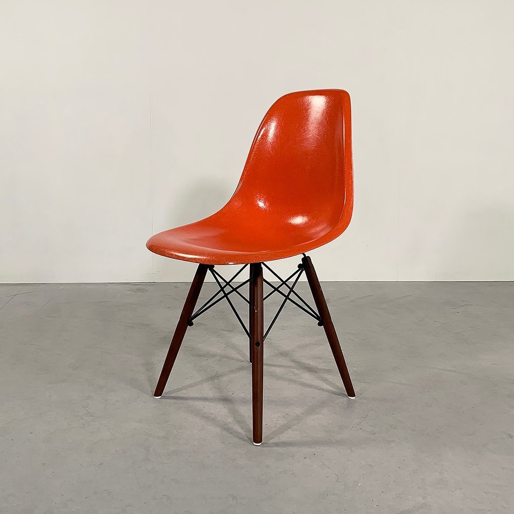 Coral DSW Dining Chair by Charles & Ray Eames for Herman Miller, 1970s