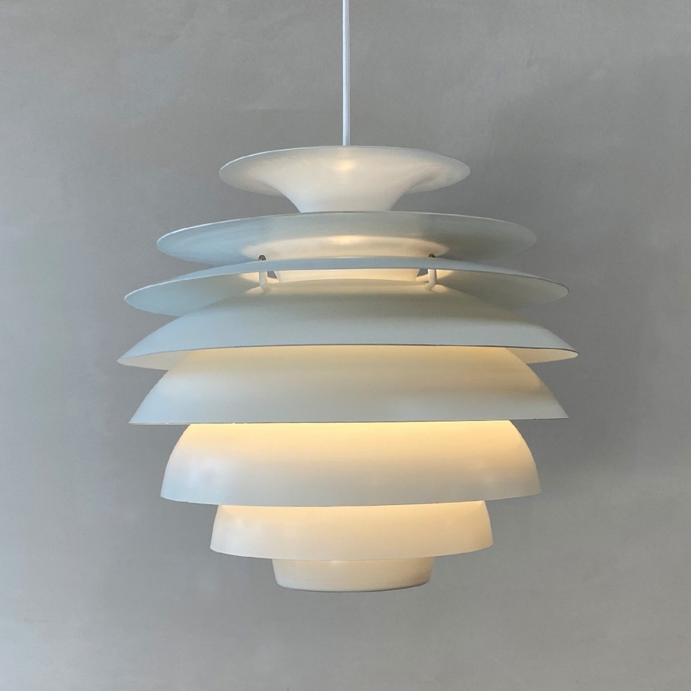 Barcelona hanging lamp by Bent Karlby for Lyfa Denmark, 1960s