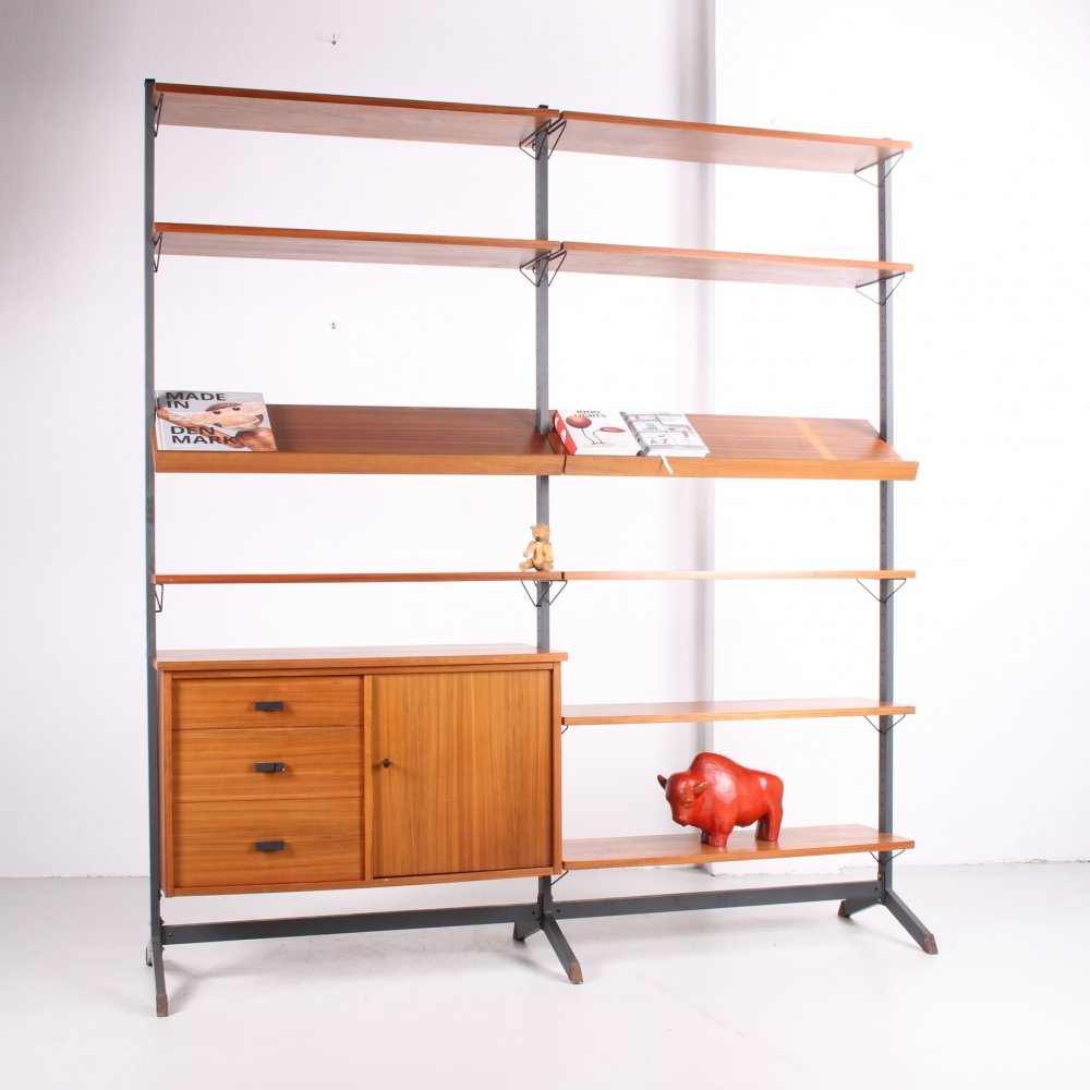 Olof Pira adjustable Wall unit or bookcase, Sweden 1960s
