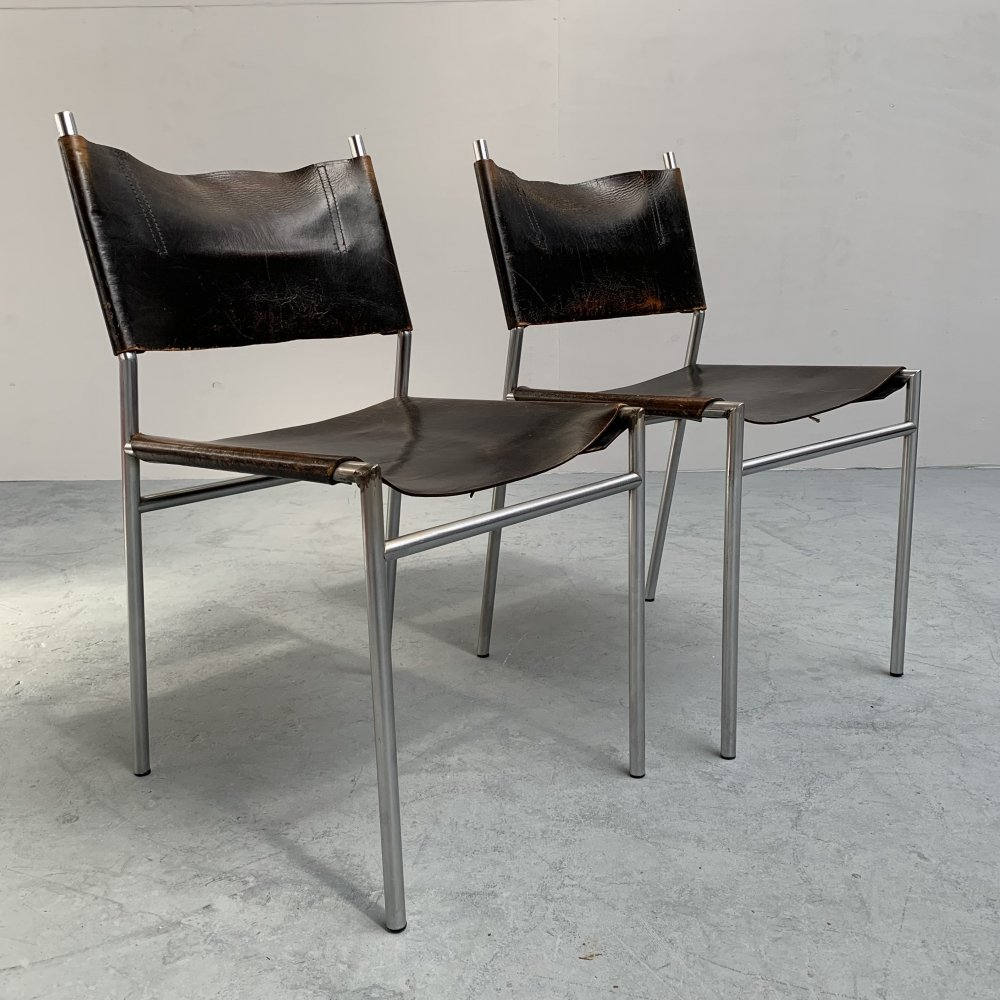 Pair of SE06 dining chairs by Martin Visser for Spectrum, Netherlands 1967