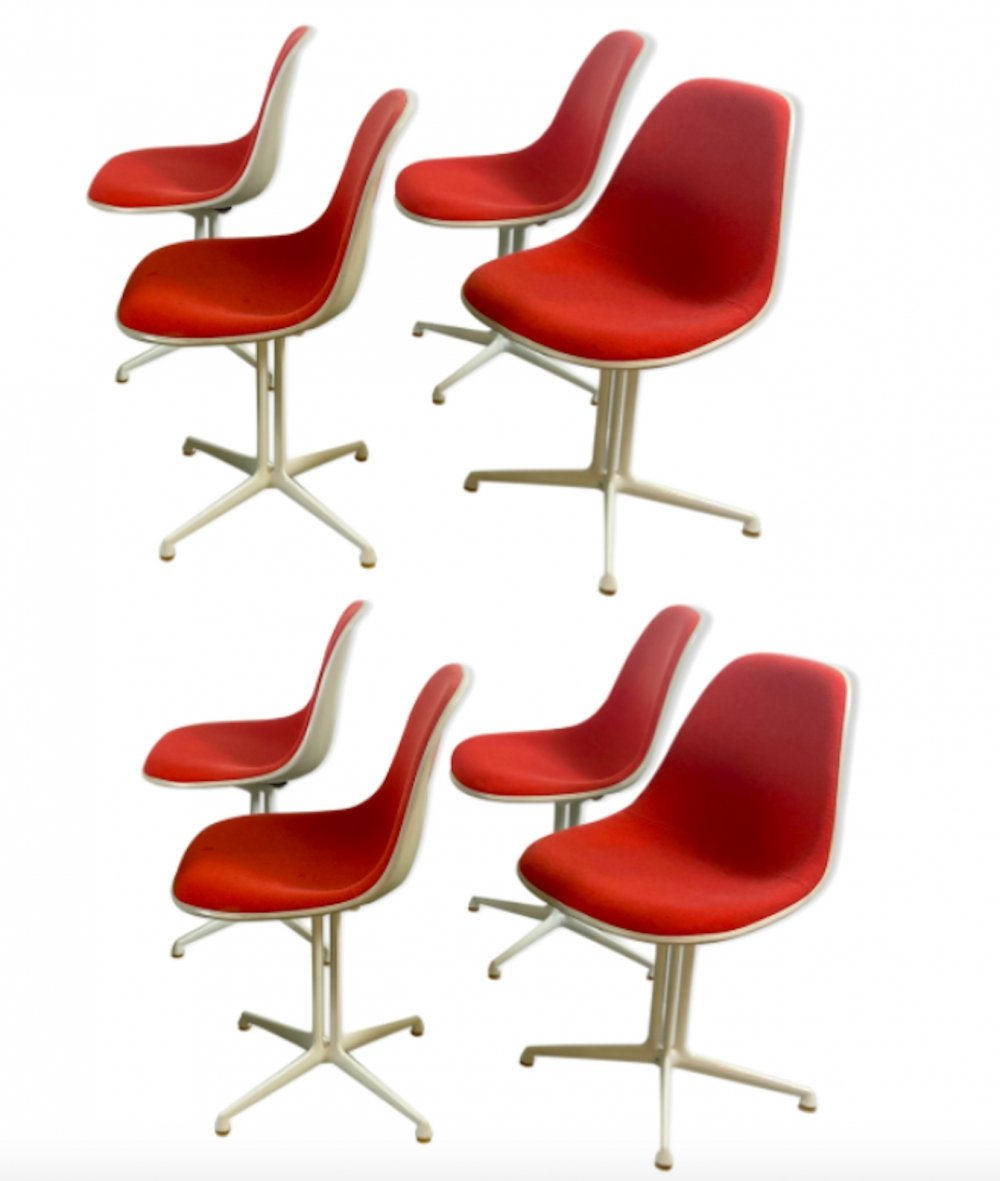 Set of 8 Early Production La Fonda Chairs by Ray & Charles Eames, 1960s