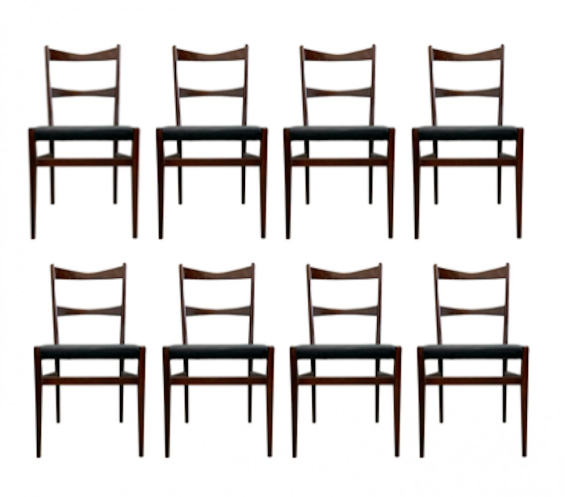 Set of 8 chairs by Illums Bolighus, 1950s
