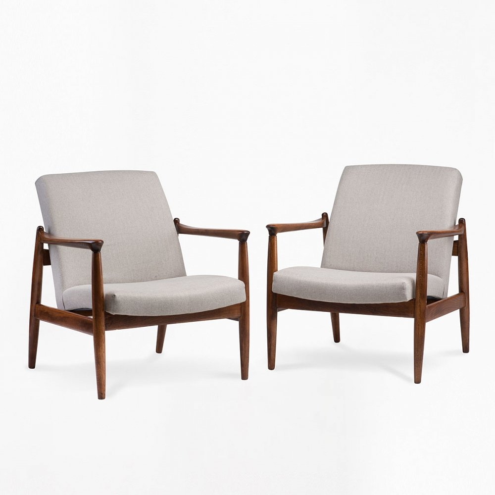 Pair of GFM 64 armchairs, 1960s