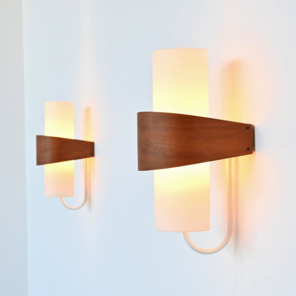 Louis Kalff model NX40 sconces by Philips, The Netherlands 1959