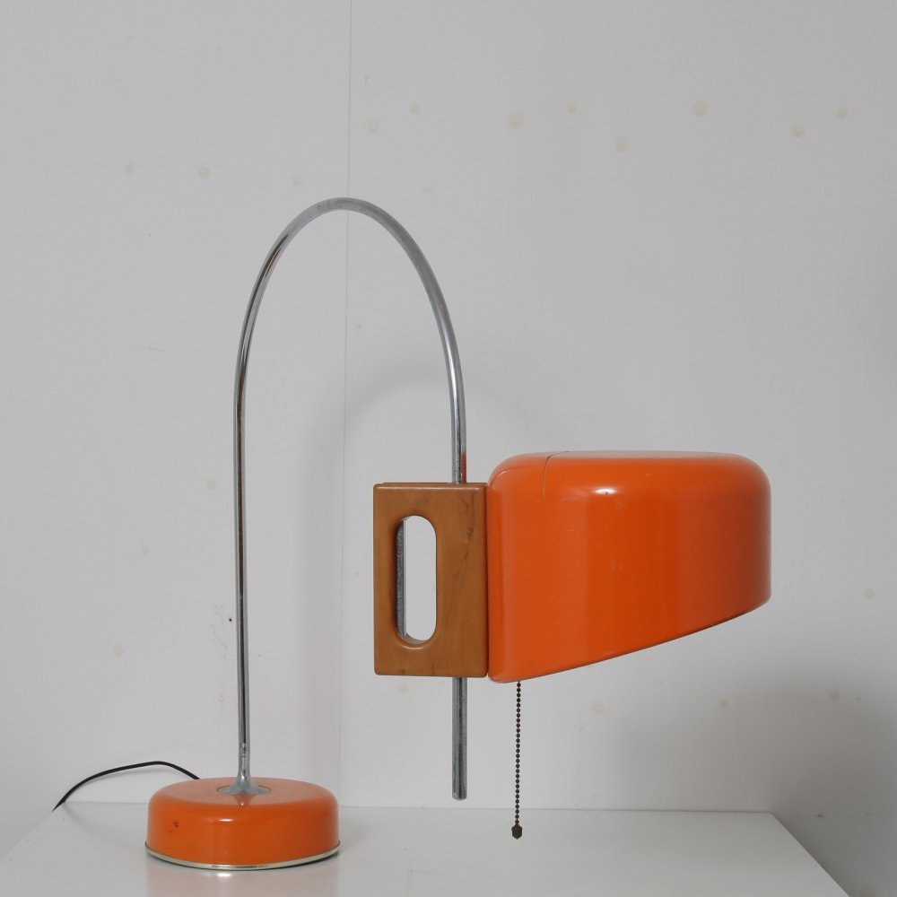 Orange table lamp by Tomas Diaz Magro for Fase, Spain 1960s