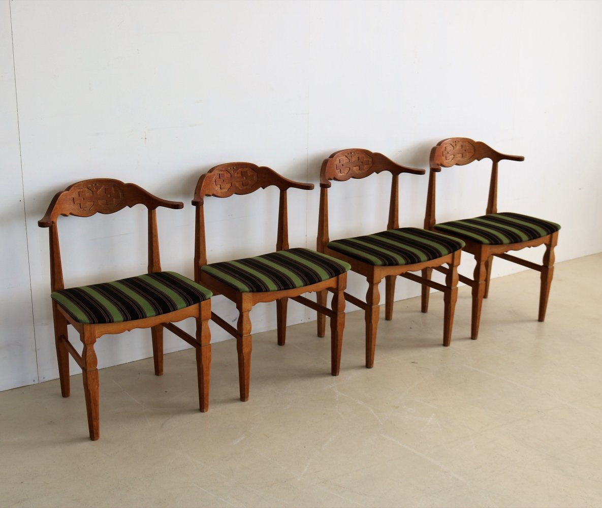 Set of 4 Henning Kjærnulf dining chairs, 1960s