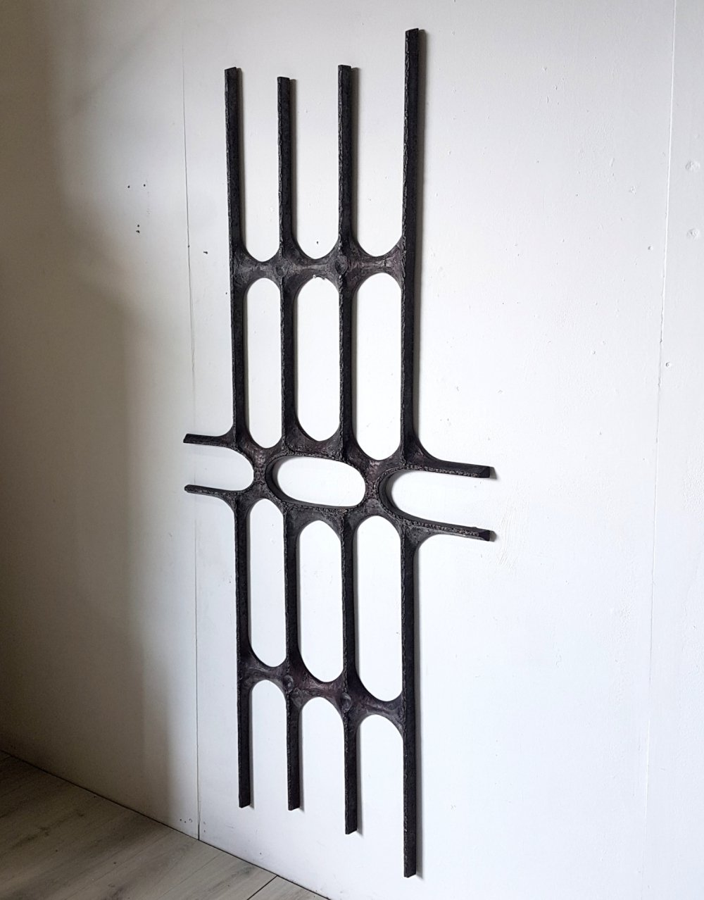 Brutalist abstract decorative wall sculpture, 1970s