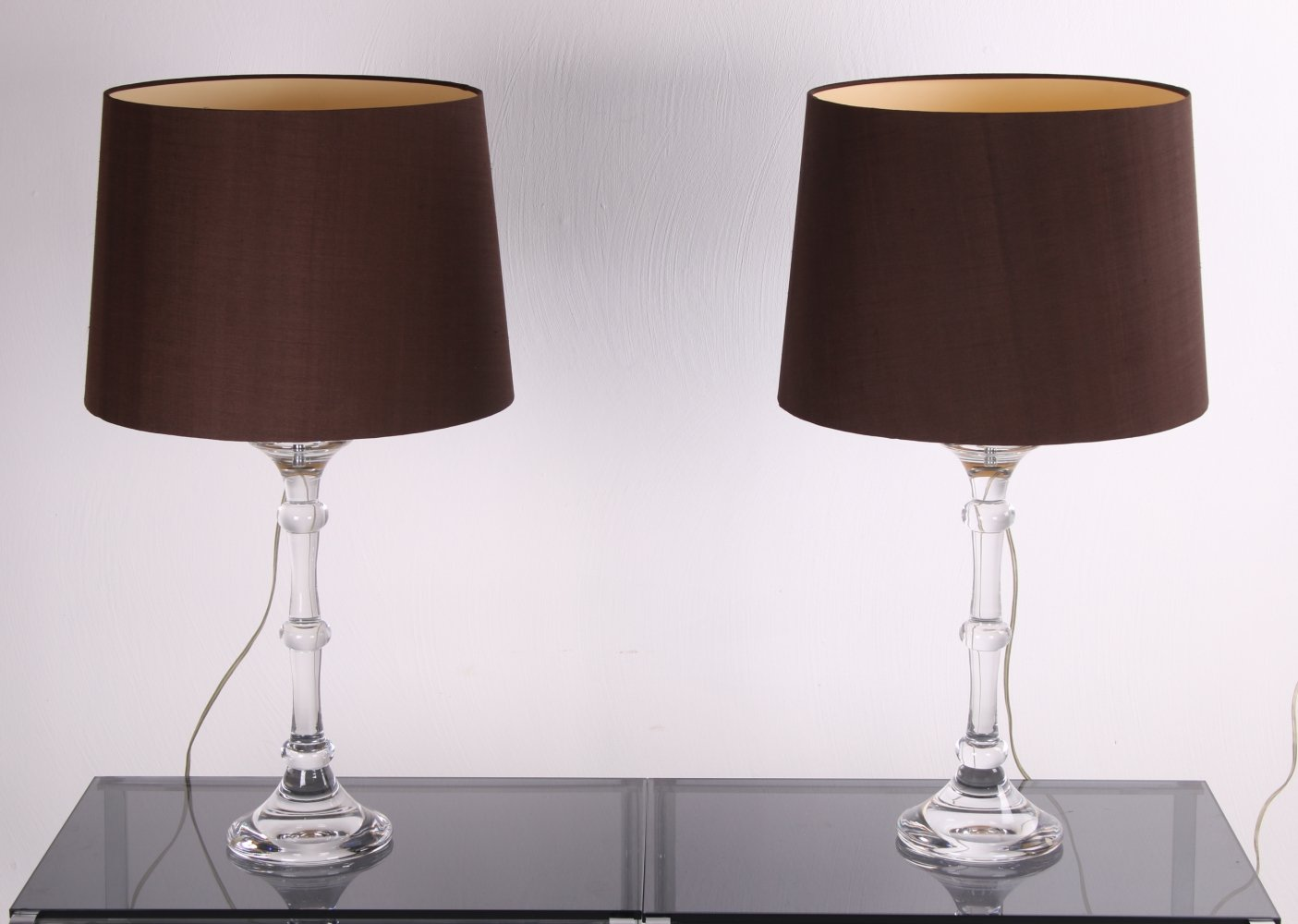 Set of German Glass Table Lamps by Ingo Maurer for Design M, 1970s