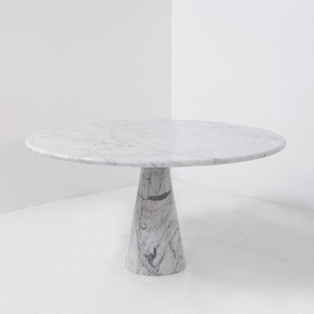 Carrara marble Angelo Mangiarotti M1 T70 table for Skipper, 1969s