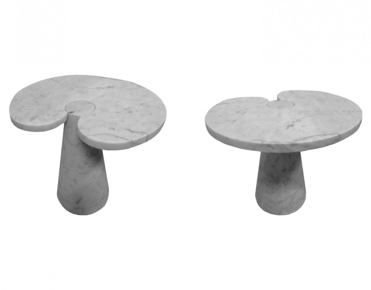 Pair of Eros side tables by Angelo Mangiarotti for Skipper Italy, 1970s