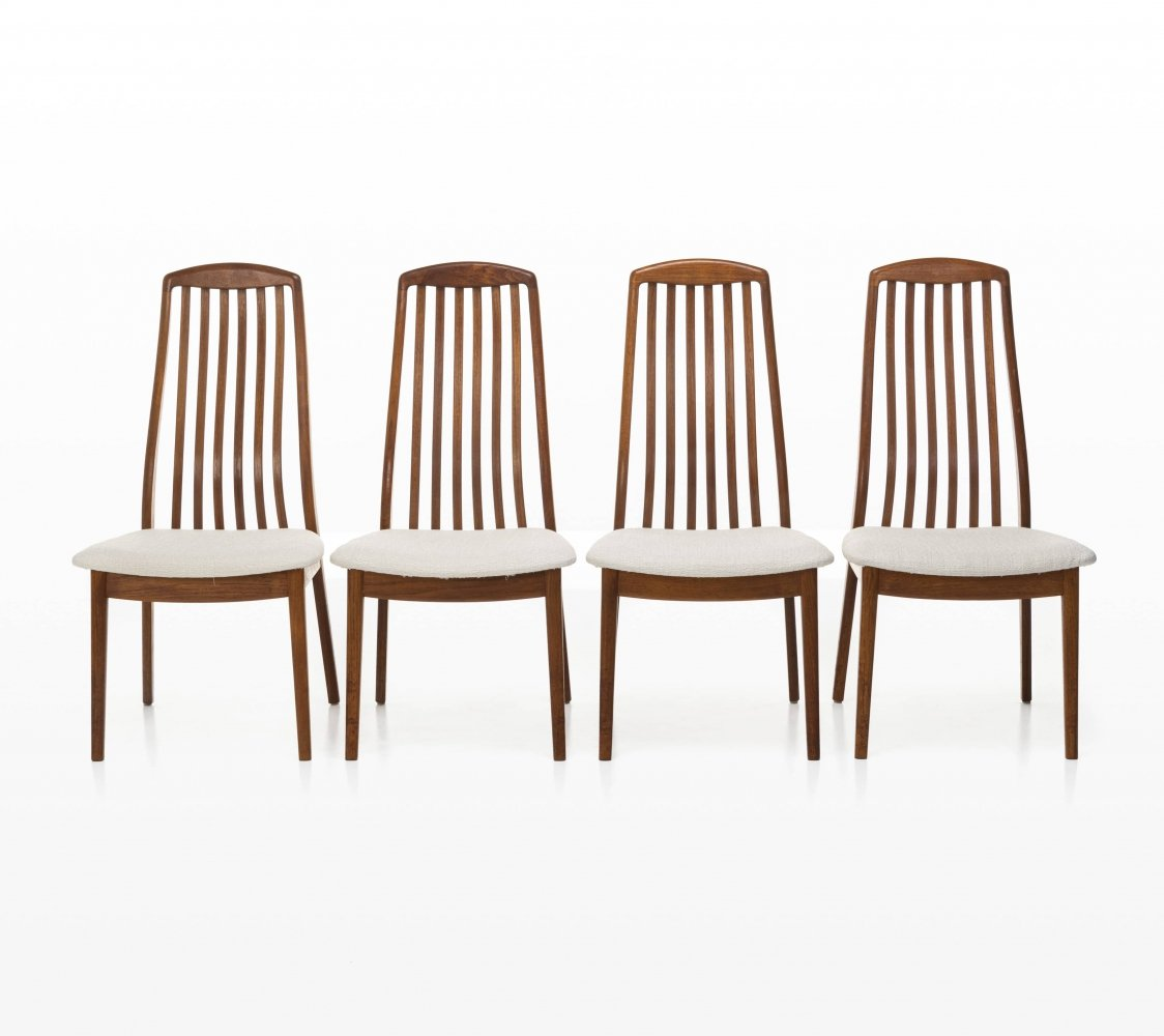 Set of 4 Dyrlund dining chairs, 1970s