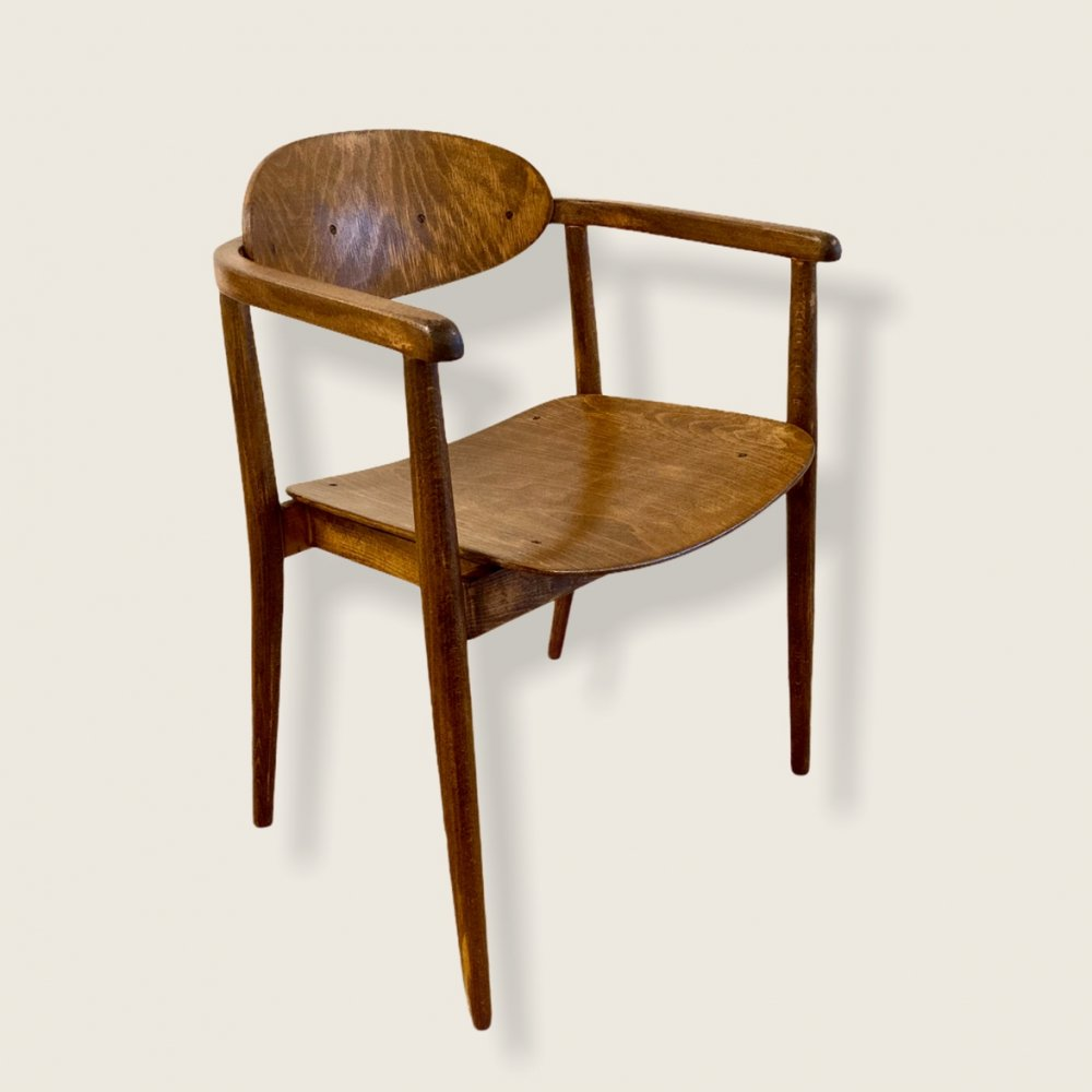 Wooden chair by Thonet, 1970s