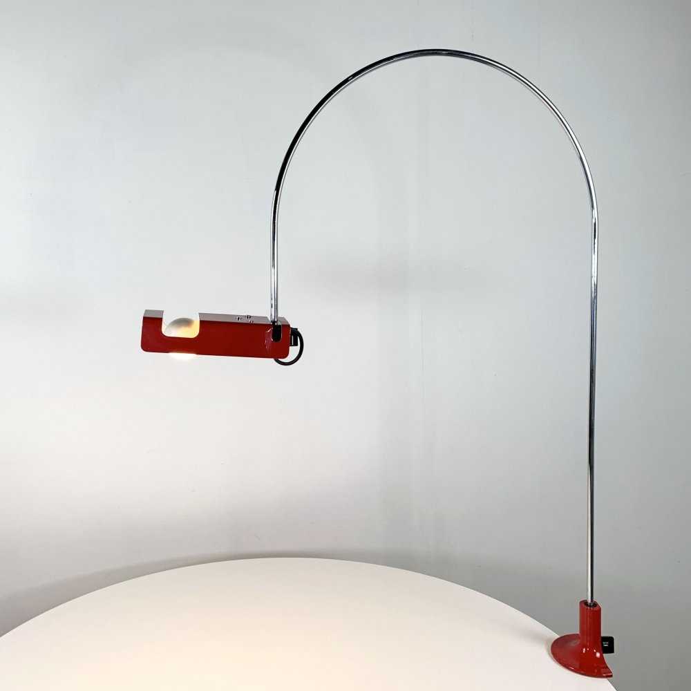 Red Spider Table Lamp by Joe Colombo for Oluce, 1960s