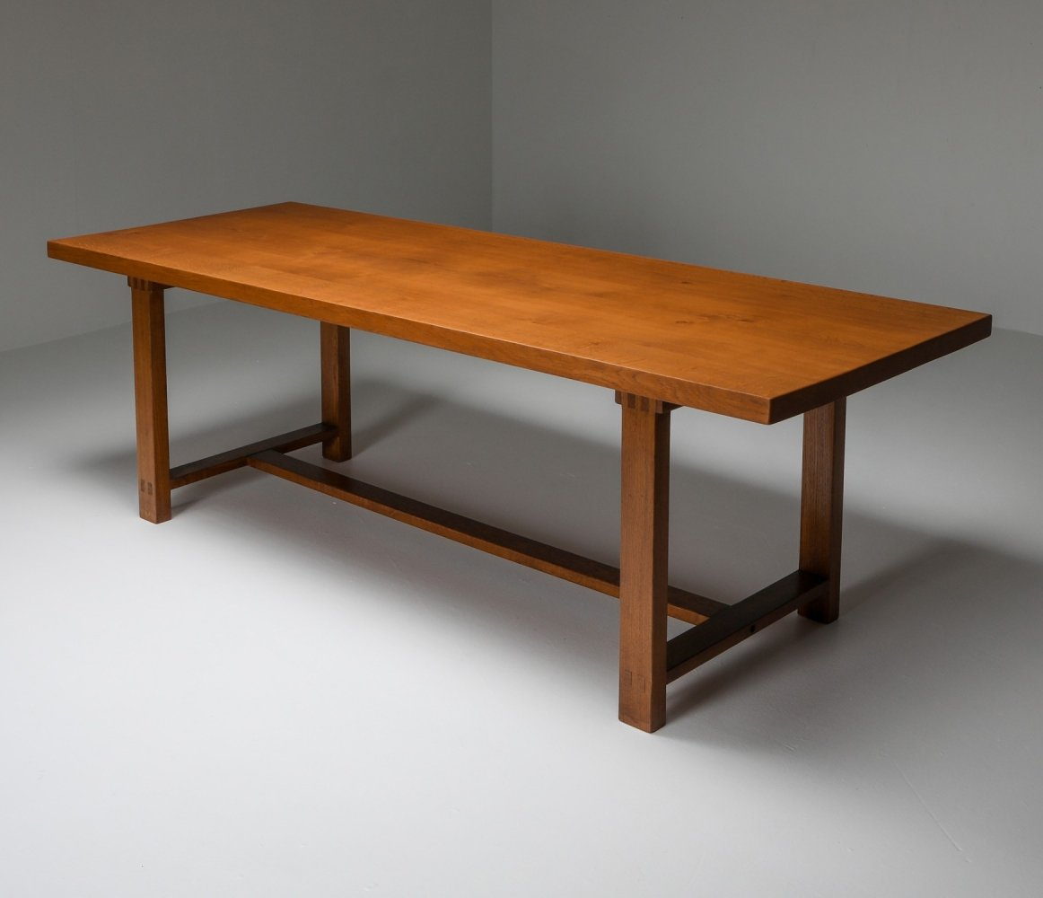 Pierre Chapo T01D Dining Table in Solid Elm, 1960s