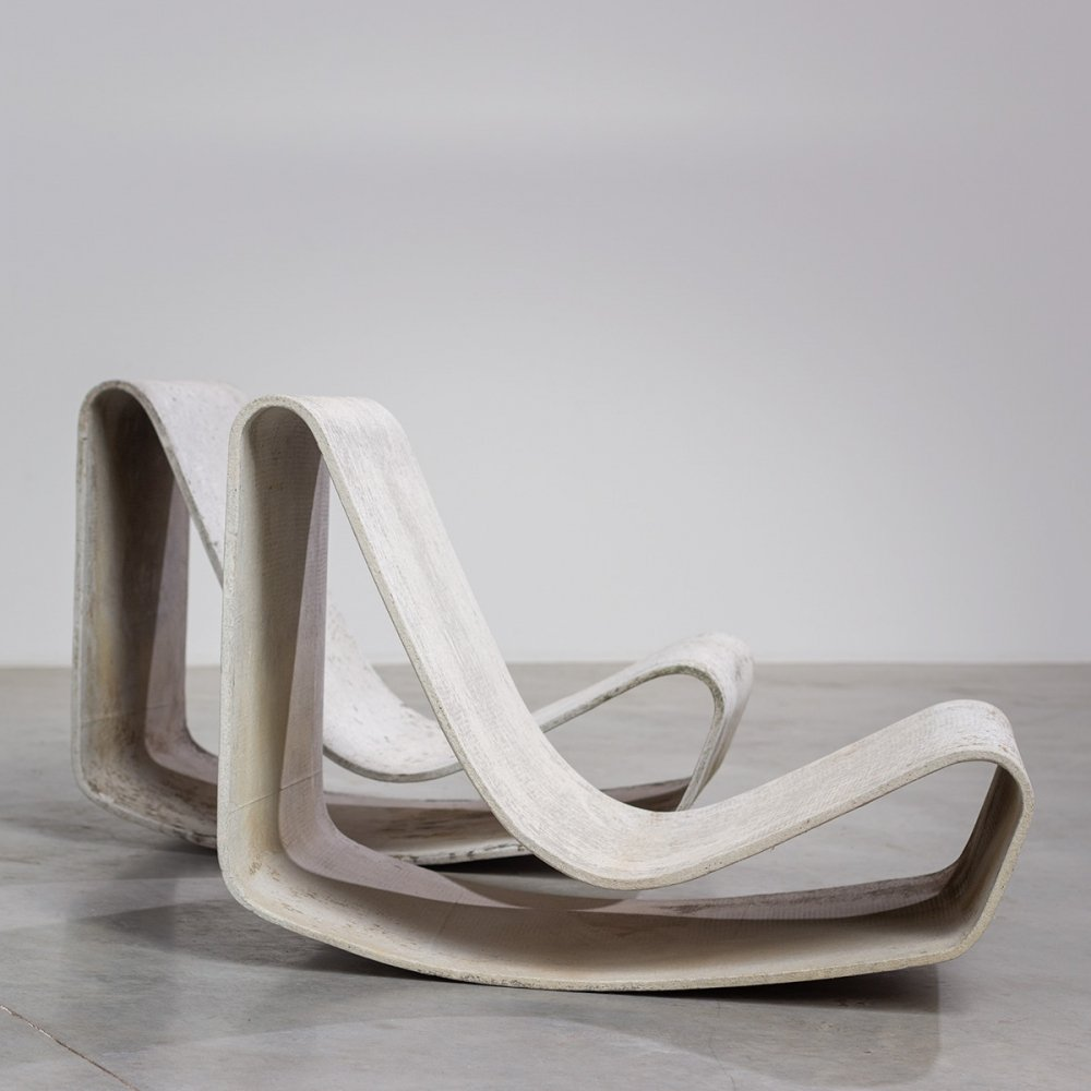 Willy Guhl vintage modernist loop chairs for Eternit, 1950