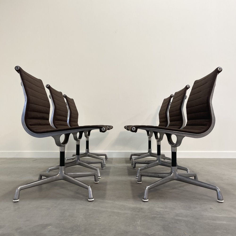 Vintage EA105 low back chairs by Charles & Ray Eames Herman Miller, 1960s