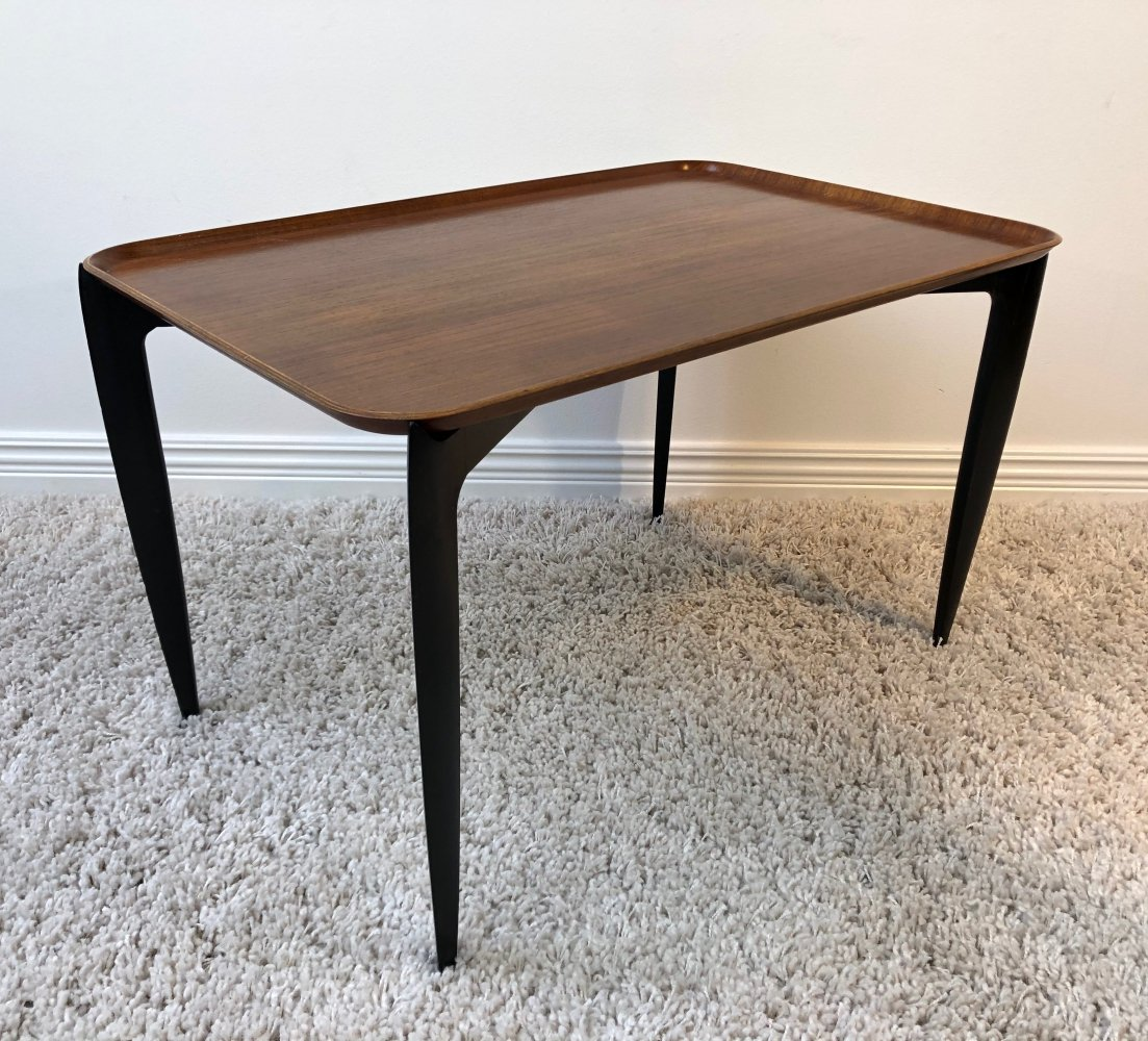 Svend Åge Willumsen & Hans Engholm teak tray side table, 1950