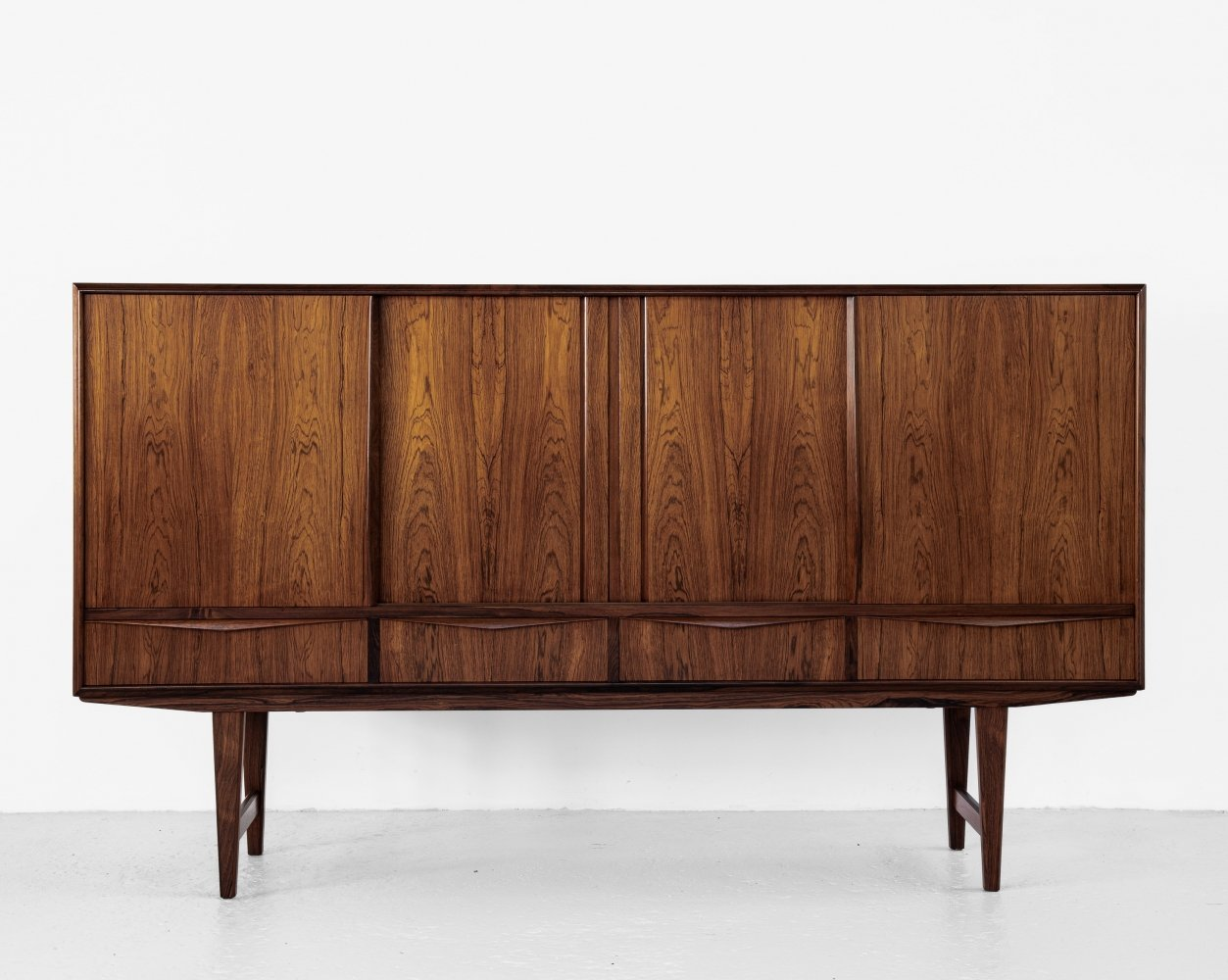 Midcentury Danish highboard in rosewood by E.W. Bach for Sejling Skabe, 1960s