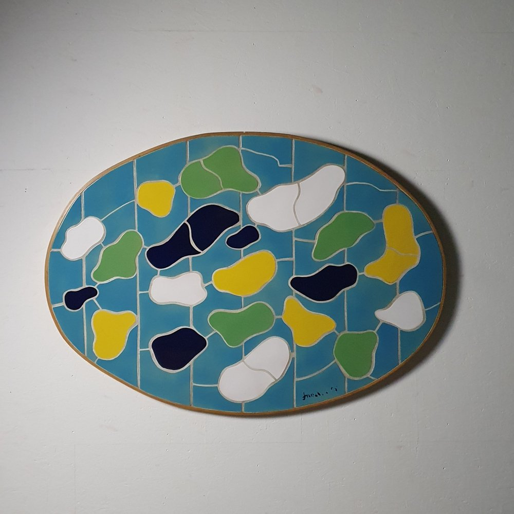 Large ceramic wall sculpture by artist Jan Snoeck (1927-2018)