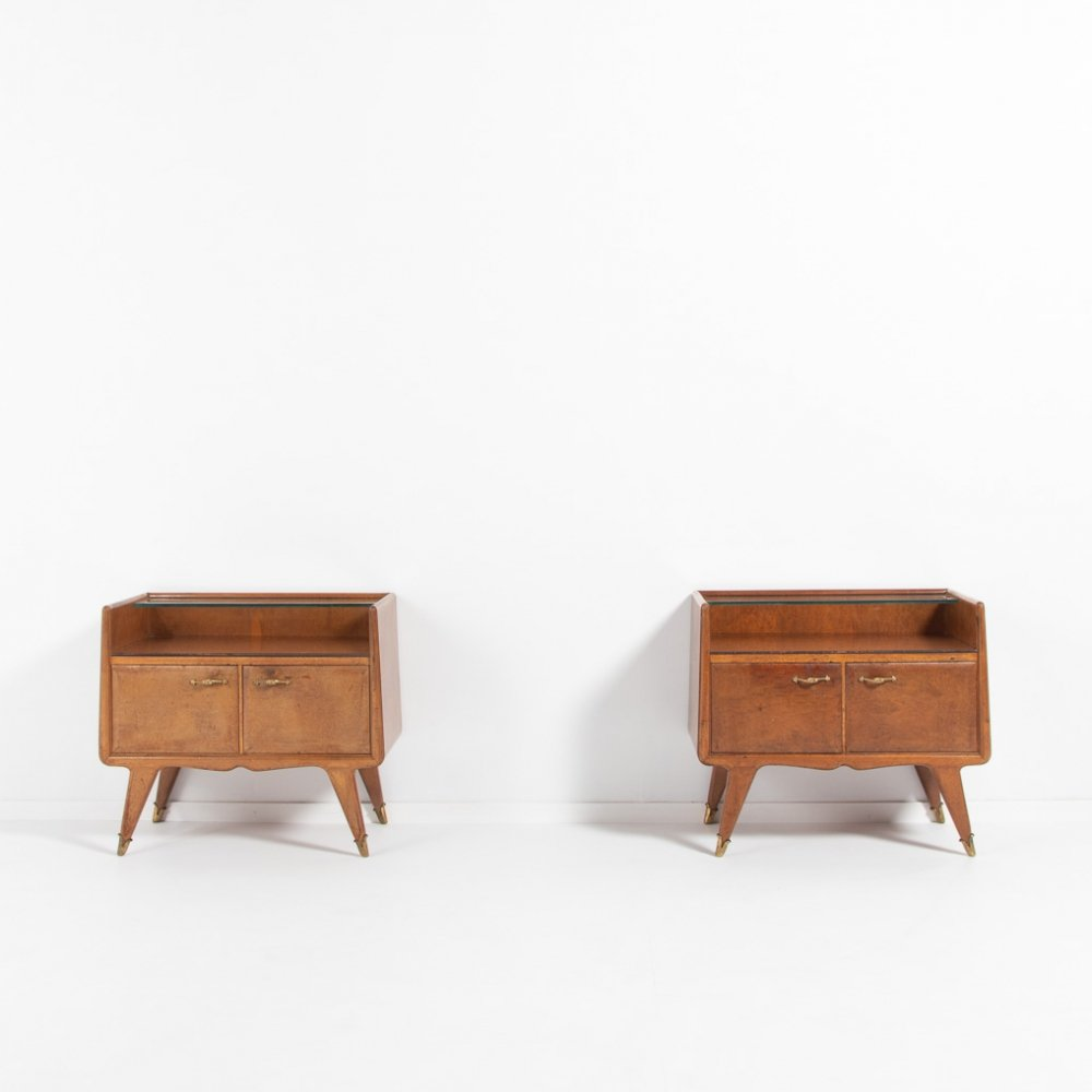 Pair of bedside tables by La Permanente Mobili Cantu, Italy 1950