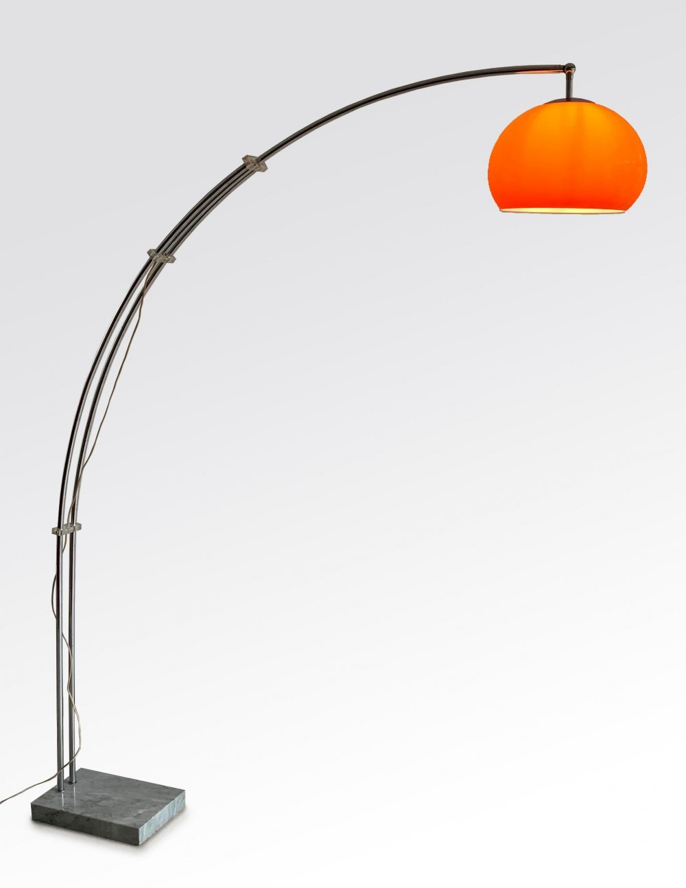 Gepo Arch lamp with orange shade, 1970s
