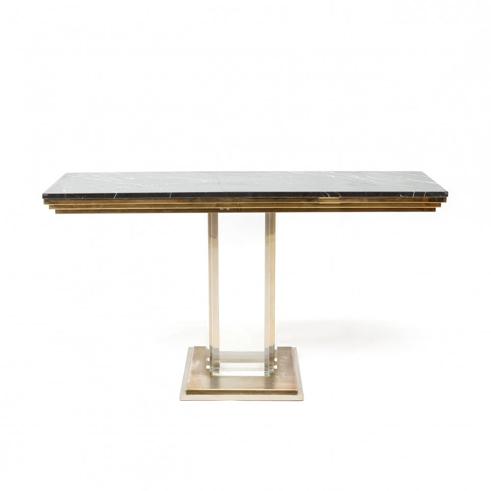 Console Table by Willy Rizzo, Belgium 1970s