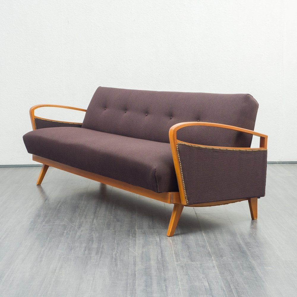 Vintage 1950s fold-out sofa