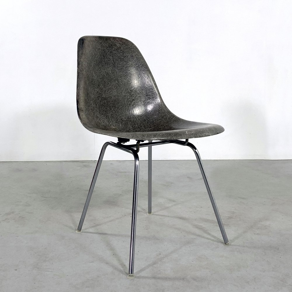 Grey DSX Side Chair by Charles & Ray Eames for Herman Miller, 1960s