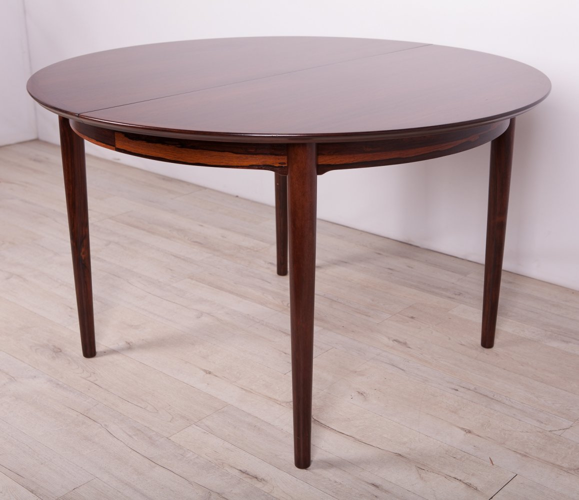 Danish Rosewood Extendable Dining Table by Arne Vodder for Sibast, 1960s